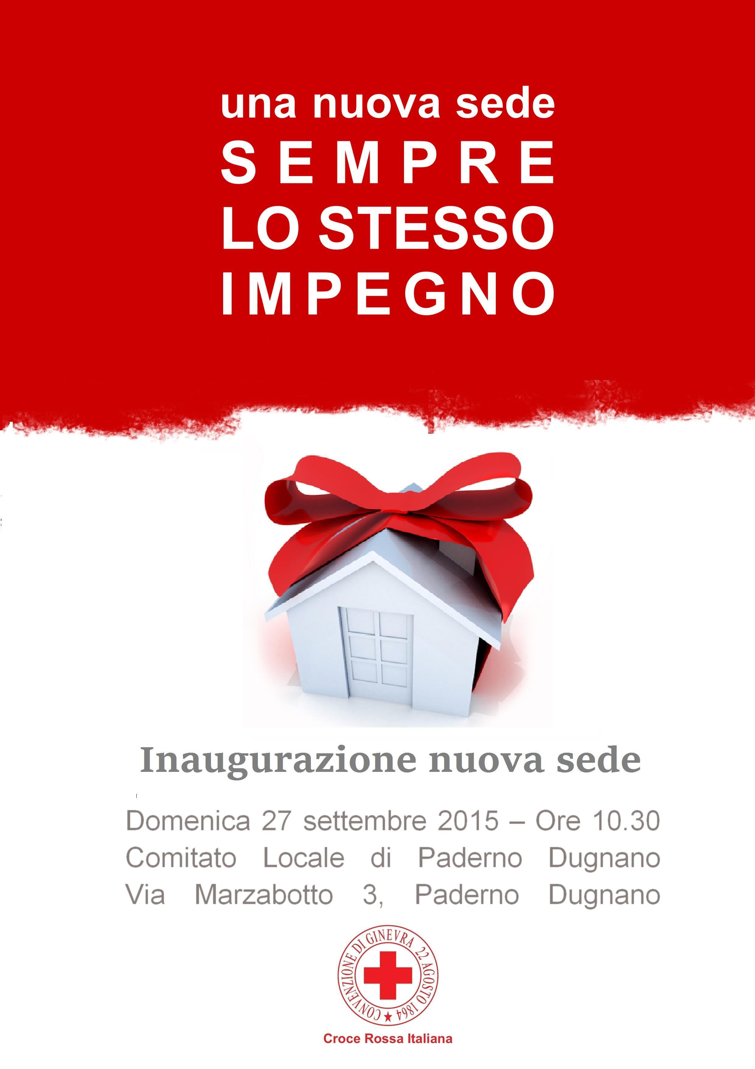 Inaugurazione nuova sede - Volantino Fronte