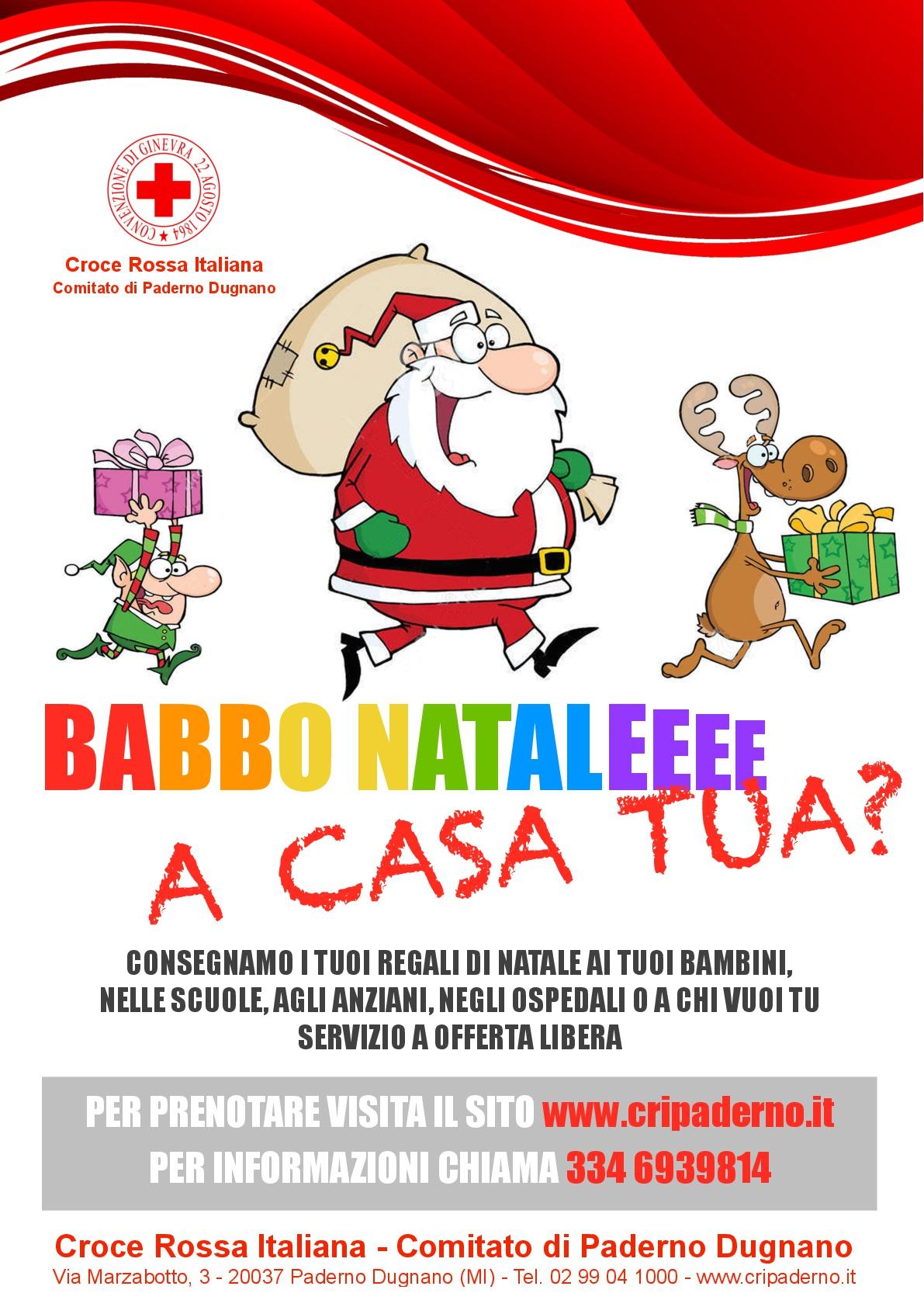 Consegna doni Babbo Natale CRI